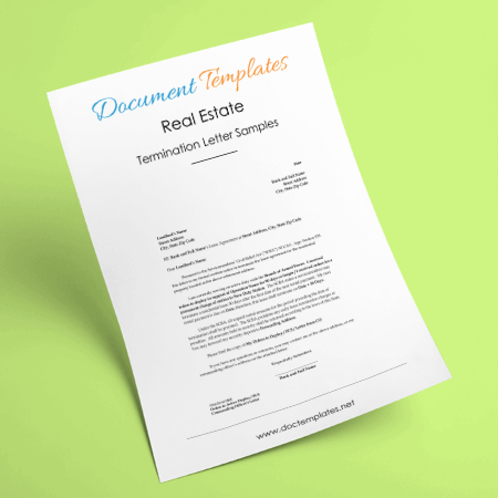 real estate termination letter templates