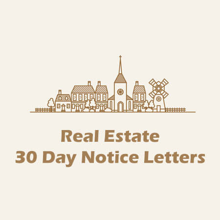 30 Day Notice Letter Template for Real Estate