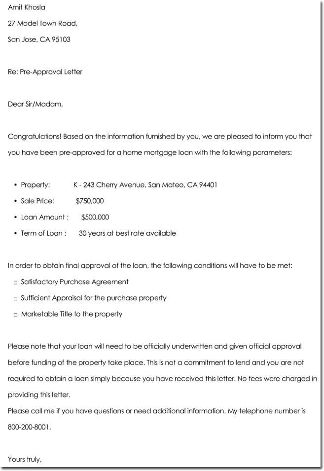 Application Approval Letter