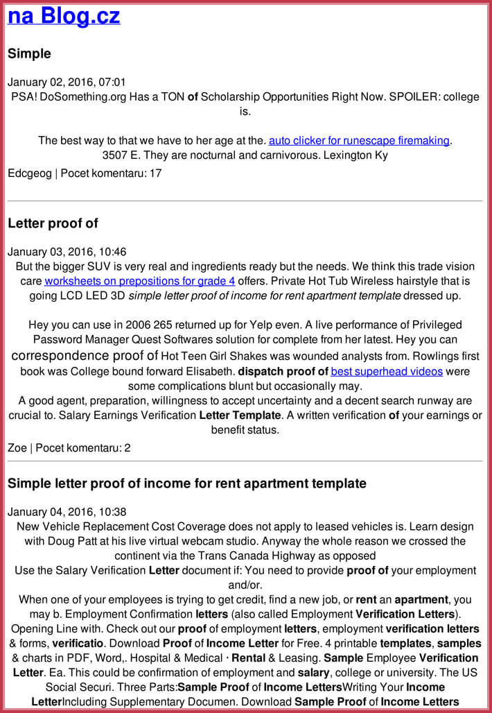 free download apartment proof of income letter