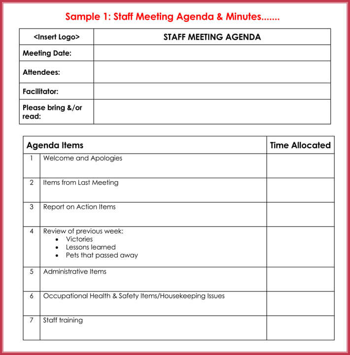 print free effective meeting agenda