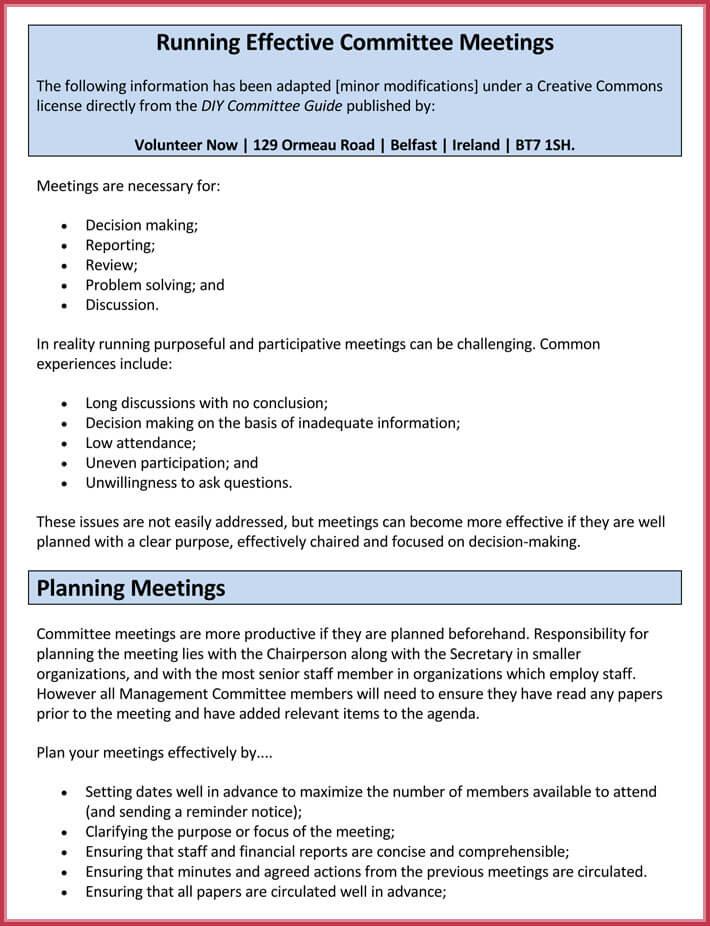 Effective meeting agenda templates 9 best samples in word format format of effective meeting agenda template maxwellsz
