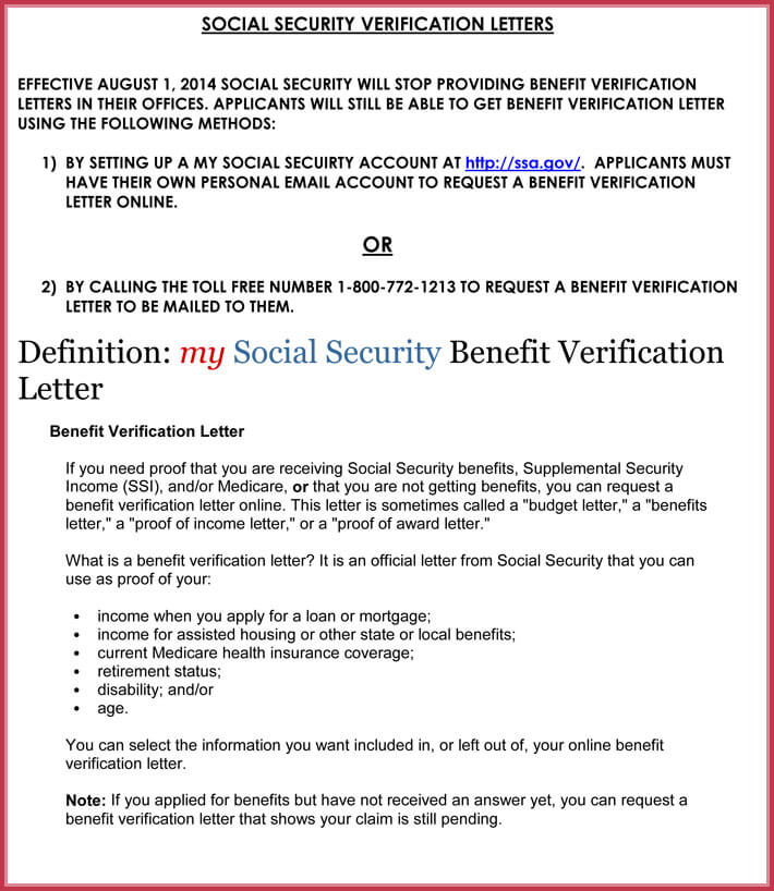 printable social security proof of income letter