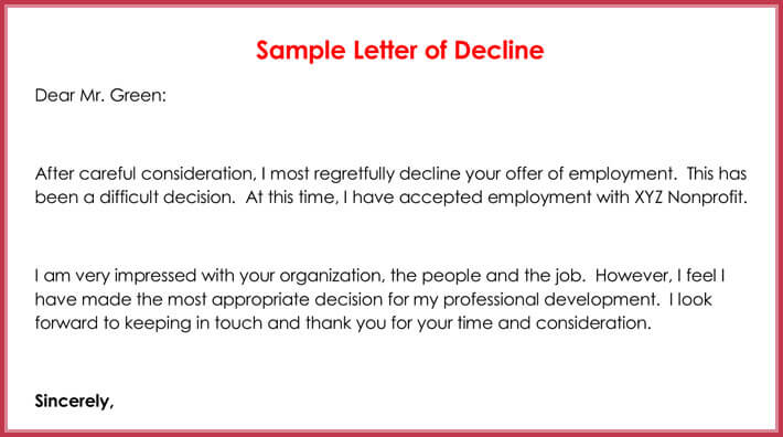 Rejection Letters 20 Free Samples Amp Formats For Hr
