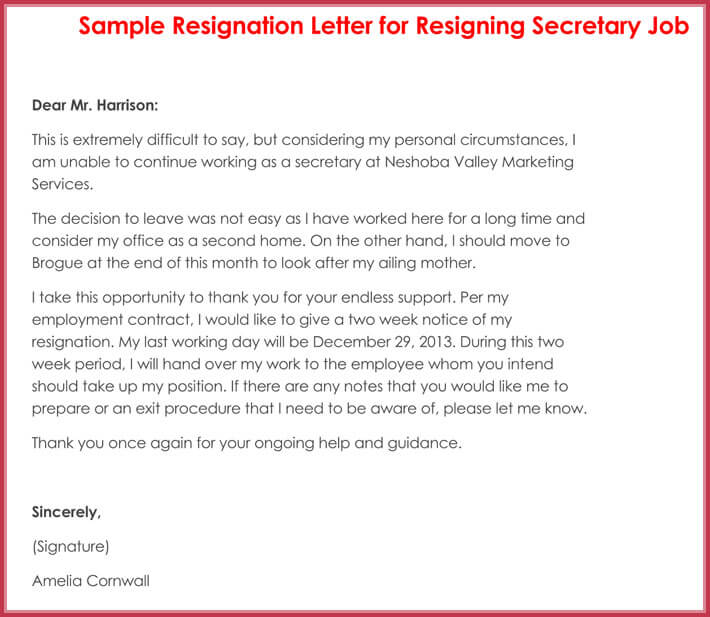 how to write a resignation letter  with 10  professional