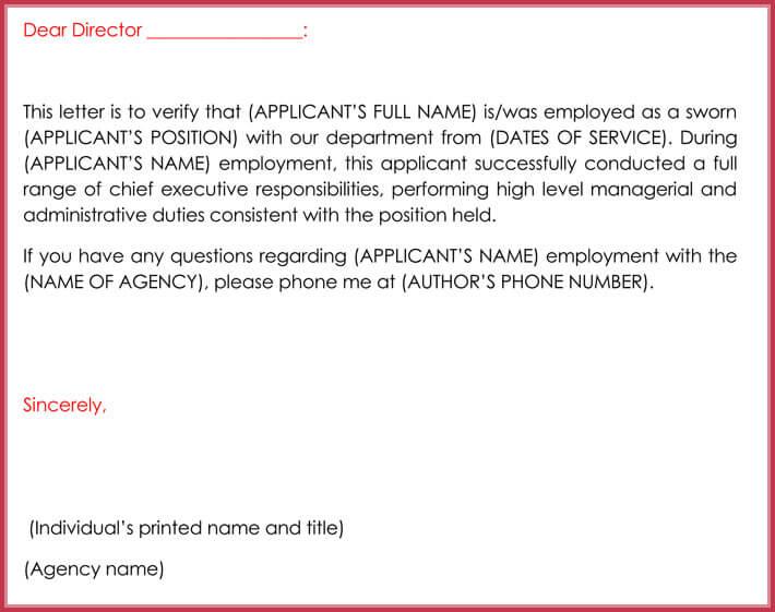 free download employment verification letter