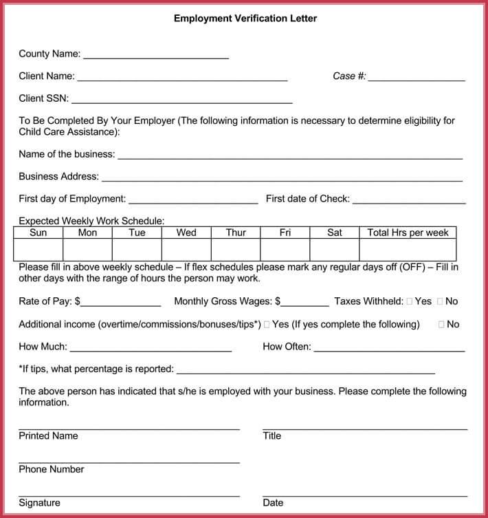 editable income verification letter