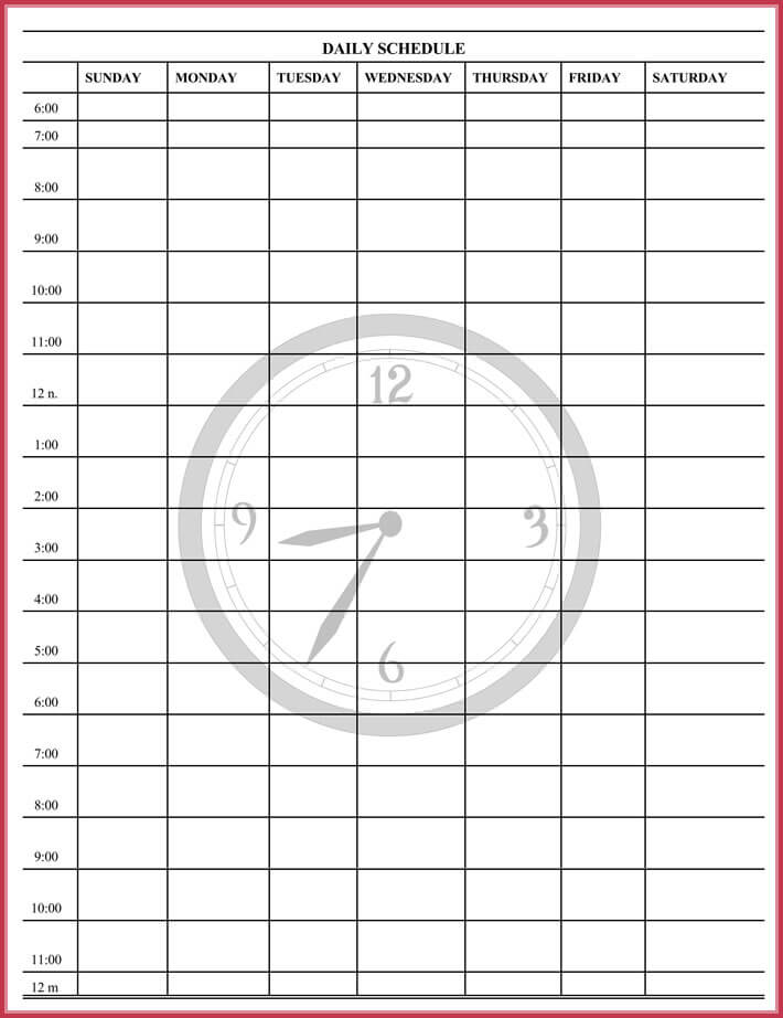 download free daily agenda template