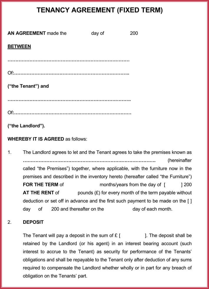 download free month to month rental lease agreement