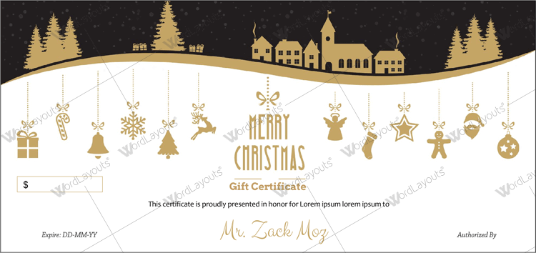 Printable christmas gift card free download