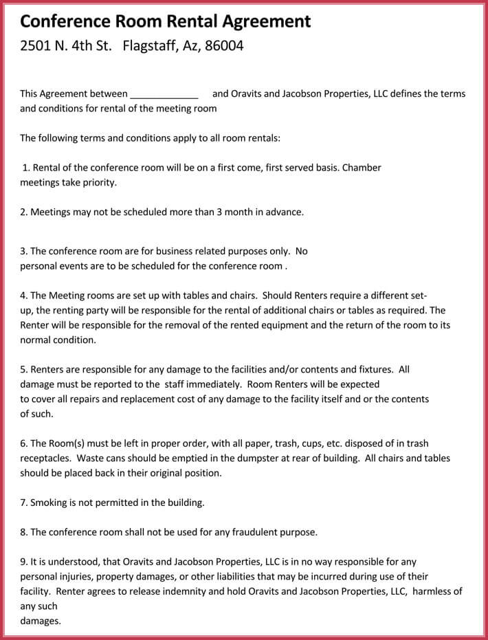 room rental agreement download free