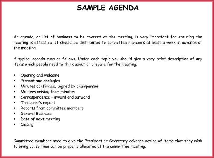 Simple Agenda Template 19 Best Agenda S Download In Pdf