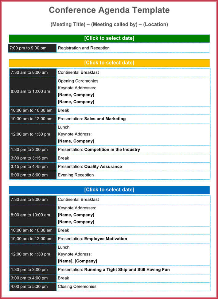 conference agenda template 8 best samples formats in pdf