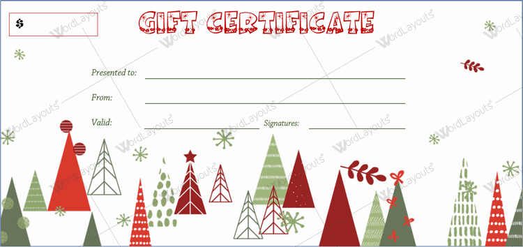 free holiday gift certificate template word