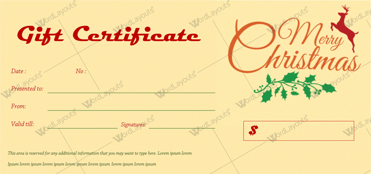 free printable gift certificates for any occasion
