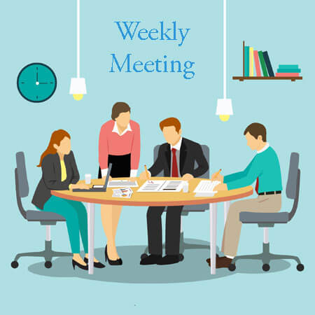 sample of weekly meeting agenda