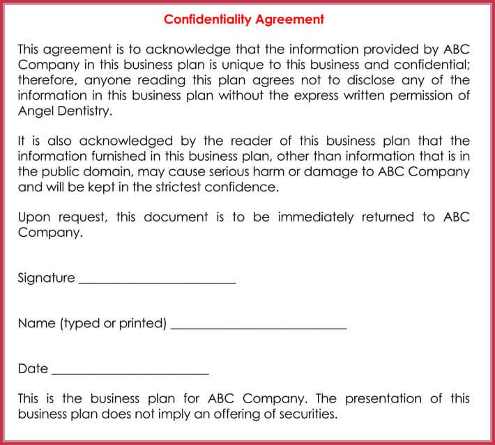 nda agreement sample