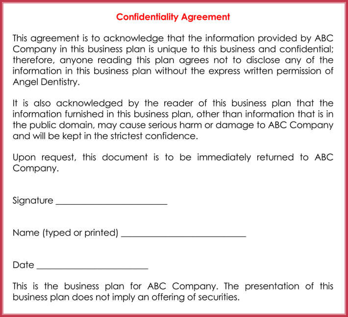 basic confidentiality agreement download free