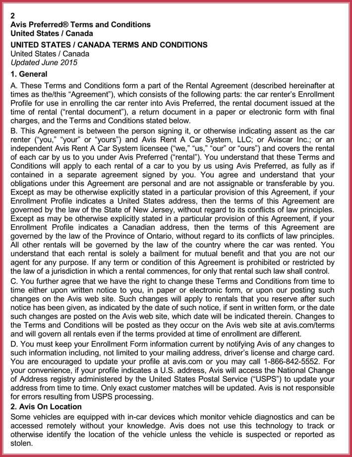 free edit car rental agreement