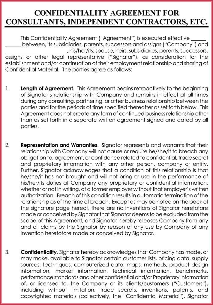 Printable Celebrity Confidentiality Agreement  Printable Confidentiality Agreement