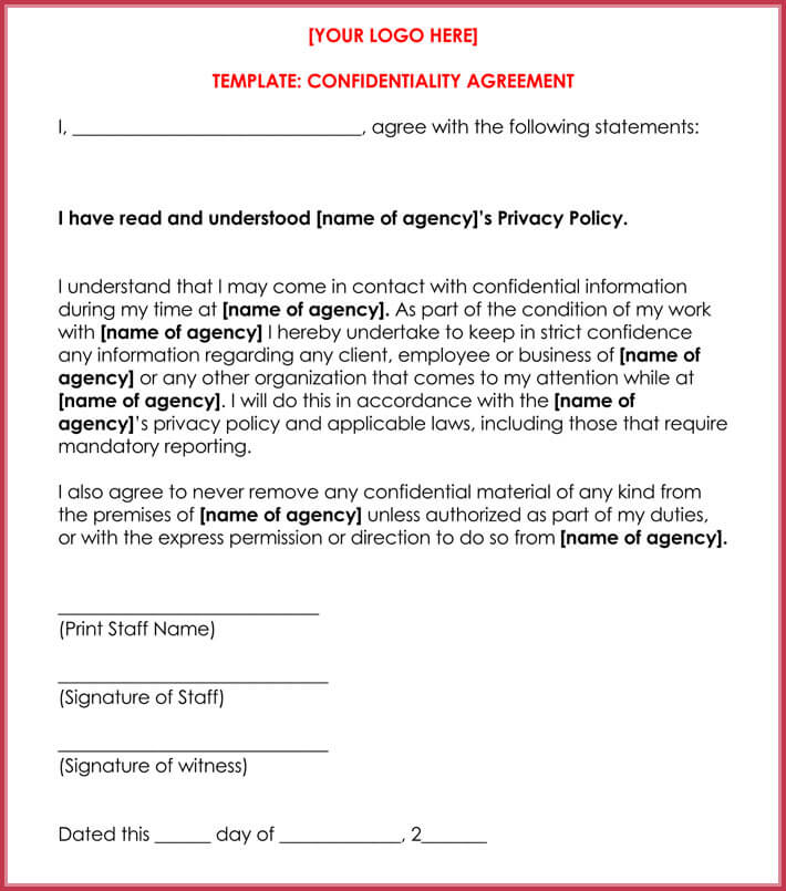 Celebrity Confidentiality / NDA Agreement Samples and Writing Guide