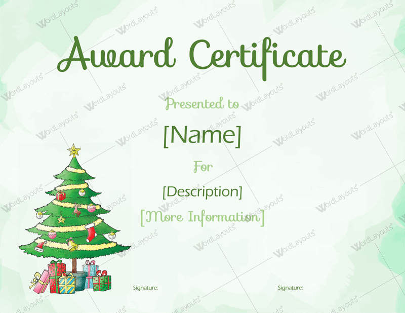 Christmas themed award certificate templates download in word pdf free download now checkout added to cart yelopaper Images