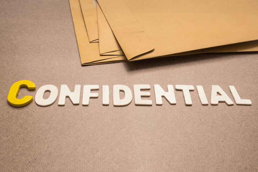 Confidential clauses