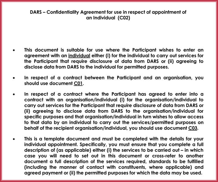 sample data confidentiality agreement