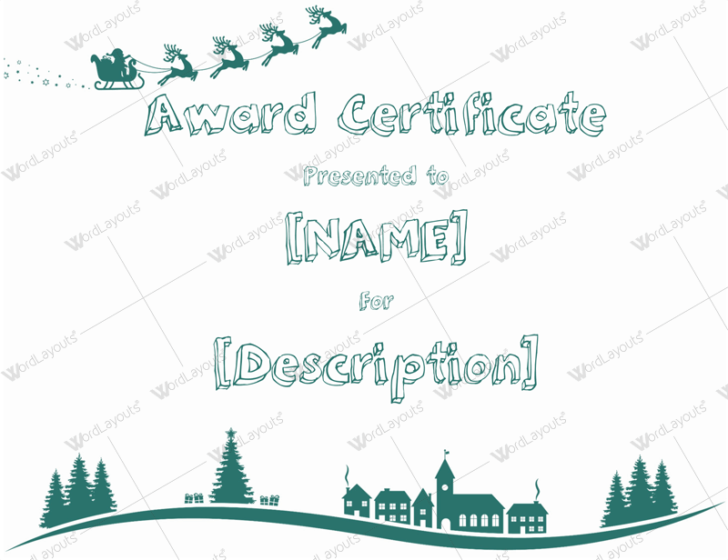 christmas themed award certificate templates