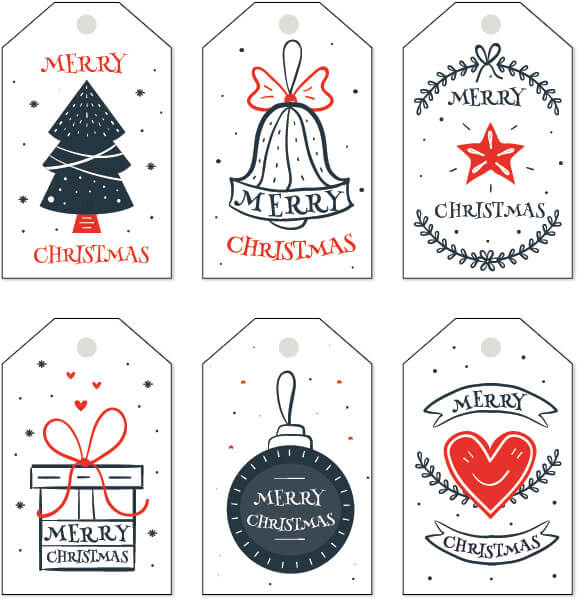 photo relating to Free Printable Editable Christmas Gift Tags named No cost Xmas Present Tag Templates - Editable Printable