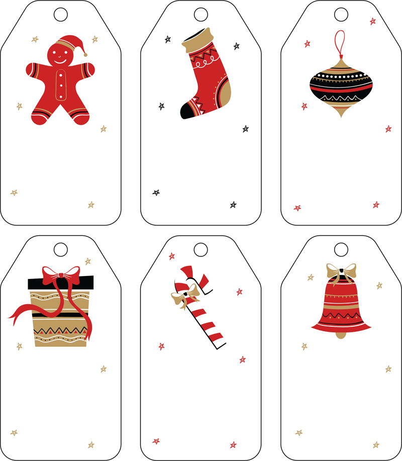 photograph about Gift Tags Printable titled Free of charge Xmas Reward Tag Templates - Editable Printable