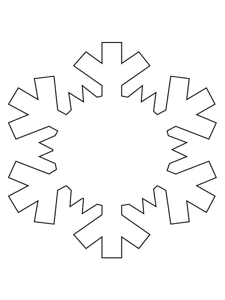Printable Snowflake Shape