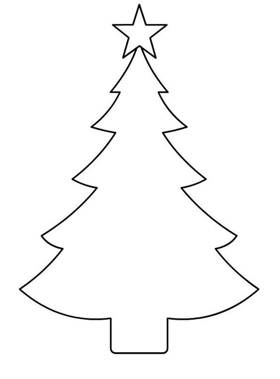 Printable Christmas Tree Shapes