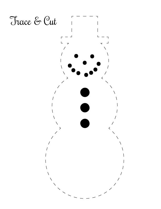 Printable Snowman Shapes for Classroom