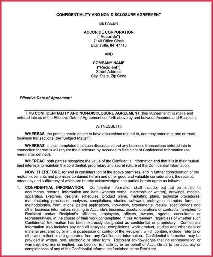 editable employee confidentiality agreement