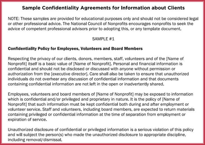 editable generic confidentiality agreement