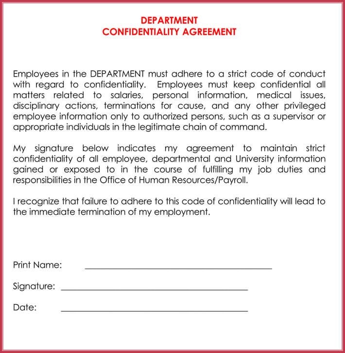 Hr Confidentiality Agreement Yolarnetonic