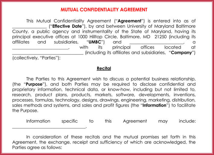 editable manual confidentiality agreement