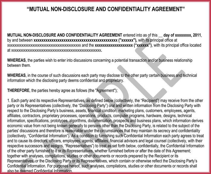 free edit non-disclosure confidential agreement