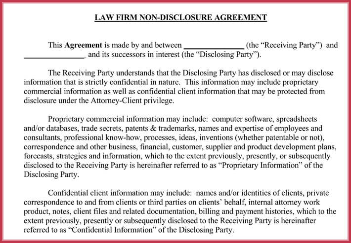 Non Disclosure Agreement Confidentiality Samples Free