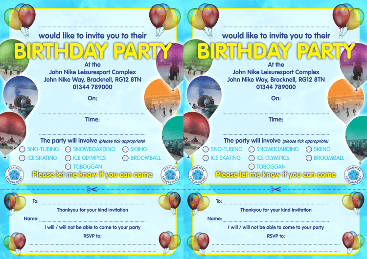 birthday invitation template download free