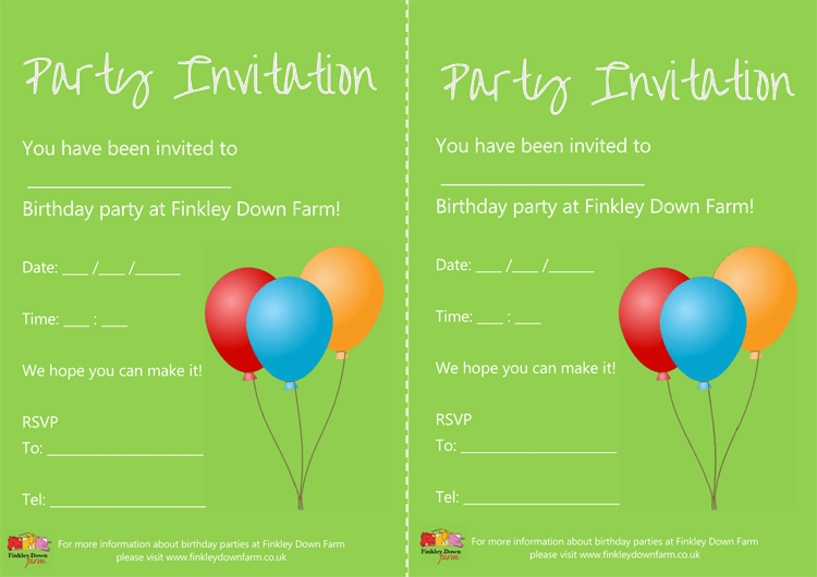 printable birthday invitaion example