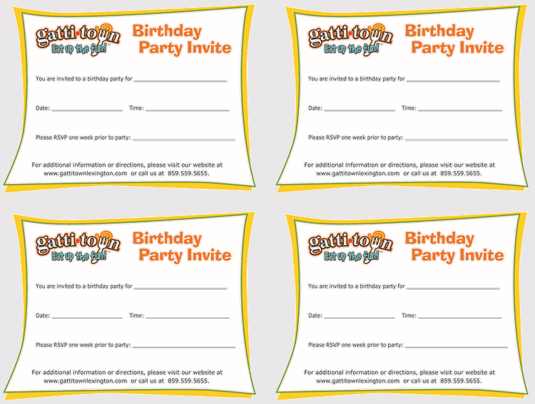 edit free birthday invitation template