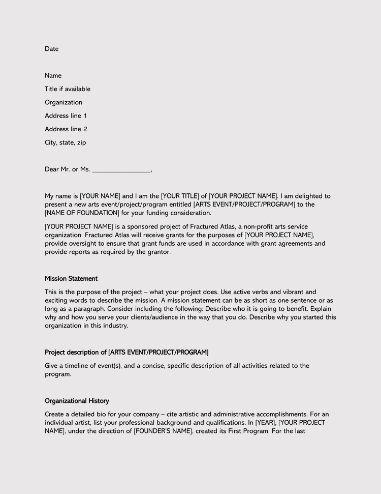 Format of An Inquiry Letter for Seeking Funds
