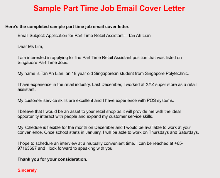 email sample follow up job application