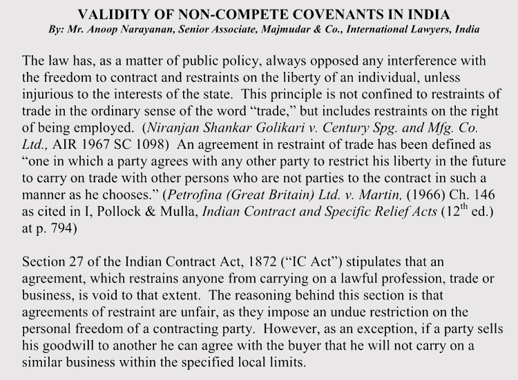 non-complete agreement format