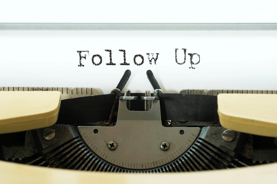 Sending follow-up