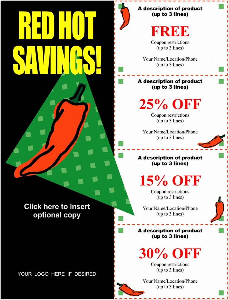 Hot Chilli Gift Cards Format