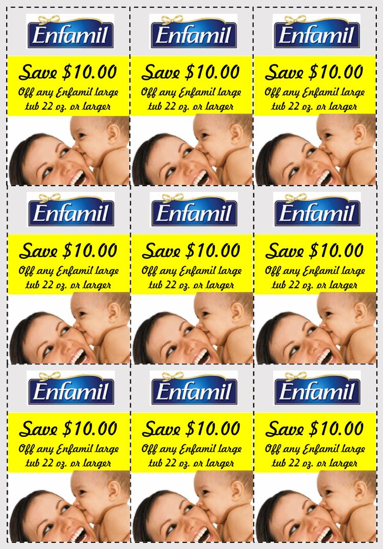 enfamil gift coupon free