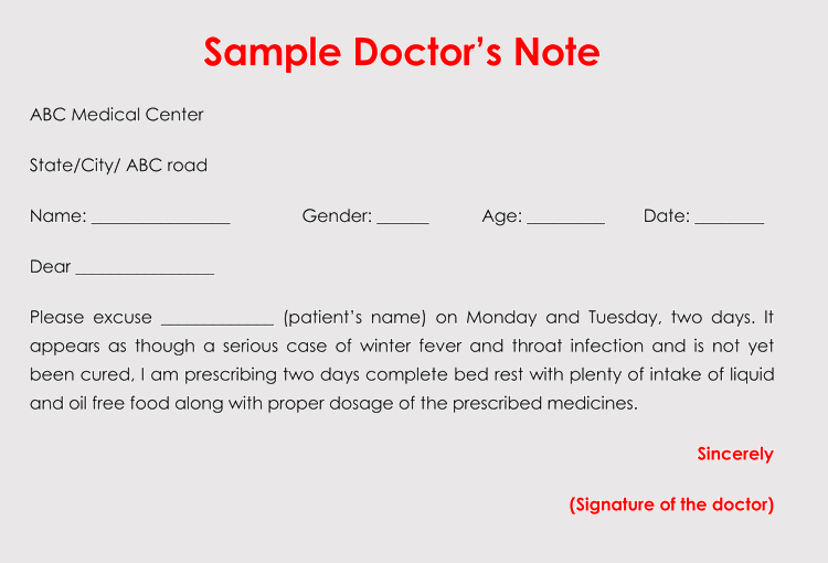 Free Fill In The Blank Doctors Appointment Note